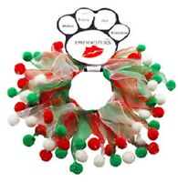 Christmas Dog Collar Smoocher Elastic Neck Red Green Holiday Costume