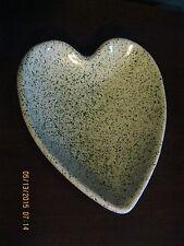 Splatter Glaze Heart Shaped Dish -Portugal - Green on top, Purple/Blue on Bottom