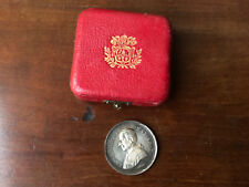 Médaille Papale LEO XIII PONT MAX AN X Antique Religious Medal Silver Argent