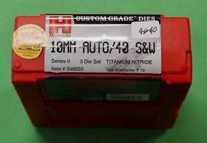 Hornady 10mm/.40S&W Titanium Nitride 3-Die Set-(546533)