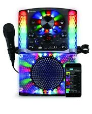 Singing Machine Sml625Btbk Bluetooth Cd+G Karaoke System with lights