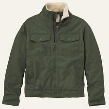 Timberland Men's Brookfield Mountain Olive Green Cotton Bomber Jacket 8143J. XL