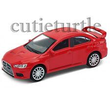 "4.75"" Welly Mitsubishi Lancer Evolution X 1:32 Diecast Toy Car 43655D Red"