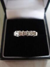 18 CARAT WHITE GOLD 5 STONE BRILLIANT CUT DIAMOND ETERNITY WEDDING RING BNIB