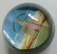 Vintage Chicago Illinois Wrigley Building Glass Dome Paperweight