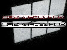 BRUSHED METALLIC SUPERCHARGED TAG BADGE - CAMARO ANY YEAR, CHOOSE COLOR