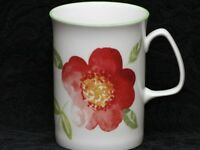 ROSE of ENGLAND WATERCOLOR SIENNA FLOWER Fine Bone China Cylinder Medium Mug
