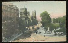 BRISTOL Cathedral & Queens Statue1905 PPC