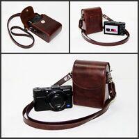 coffee dark brown leather camera case bag For Sony RX100 Mark III, RX100 M3 HX90