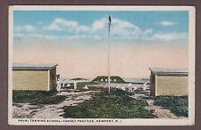 Naval Training School Target Practice Newport Rhode Island Postcard