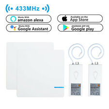 2x1 Way Wireless Switch +2 Receiver Smart Wifi Light Wall Alexa Google Home kit