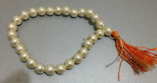 MALA COUNTER 27+1 PEARL BEADS HINDU BUDDHIST JUZU SUBHA ROASARY COUNT MEDITATION