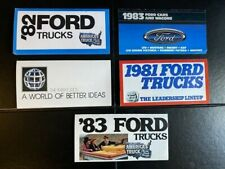 FORD CARS & TRUCKS MINI USA DEALER BROCHURES - 81 82 & 83 (5) - VGC