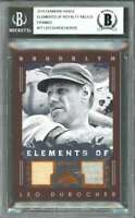 Leo Durocher 2003 Diamond Kings Elements Royalty Relics Framed #17 BGS AUTHENTIC
