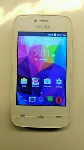 BLU Dash JR 3G D192U - White (Unlocked) Smartphone - Tested - Works