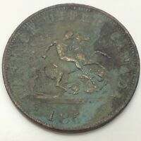 1852 Bank Upper Canada Half 1/2 Penny Cent Canada Circulated Token D628