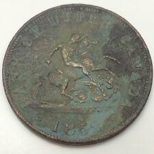 1852 Bank Upper Canada Half 1/2 Penny Cent Canada Circulated Token D628