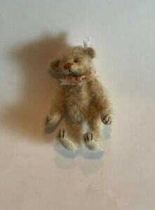 """DEB CANHAM """"CHARLOTTE"""" SPECIAL MINI 3""""BLOND MOHAIR BEAR-FULLY.JOINTED"""
