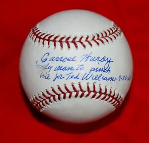 """VHTF Carroll Hardy """"Pinch Hit For Ted Williams"""" Signed Baseball With PSA/DNA COA"""