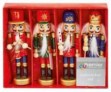 4 Piece Christmas Nutcracker Ornament Set - PREMIER
