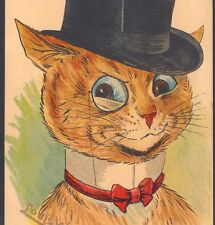 "RARE..! LOUIS WAIN...""SHE'S AWFULLY PRETTY!"" FANCY CAT,TOP HAT,MONOCLE,POSTCARD"
