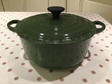 Le Creuset 20cm Cast Iron Green Round Lidded Casserole Dish