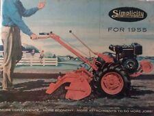 Simplicity Color 1955 Brochure Walk Behind Va Fa La Lawn Garden Tractor Catalog