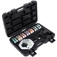 Hydraulic A/C Hose Crimper Tool Kit Hand Tool Crimping Set Hose Fittings 7 Dies