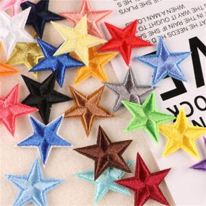 20 pcs Bulk Sew On Patches Fabric Stars For Jeans Embellishments Art Decors 3cm