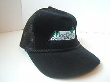 MacDonald Pontiac Buick GMC Hat Black Snapback Rope Car Dealership Trucker Cap