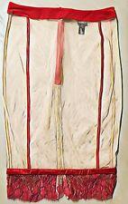 Vintage $1200+ LA PERLA Red Wine Silk & Lace/Nude Mesh Skirt 1/2 Slip  M