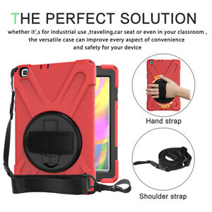 """For Samsung Galaxy Tab A 8.0"""" 10.1"""" Tablet Case Hybrid Rubber Stand Strap Cover"""