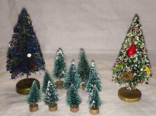 Eleven Vintage Bottlebrush Trees For Putz