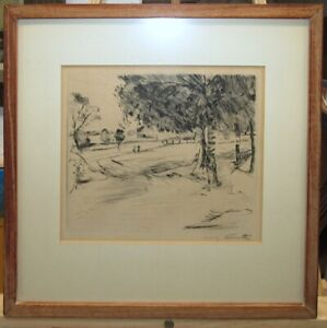 "Lovis Corinth 1916 Signed German Expressionist Etching ""Landschaft"" Listed"