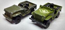 2 x Vintage Matchbox Lesney Superfast No 38 Armored Jeep 1976 Diecast Car Lot
