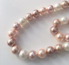Rosa Collier Perlen Halskette 10mm Muschelkernperlen Perlenkette AAA Qualität