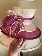 NWOT Scala Kentucky Derby Two Tone Hat with Feather Band