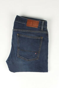 31471 Tommy Hilfiger Hudson Straight Lower Rise Bleu Hommes Jean Taille 32/32
