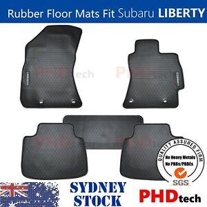 Premium Quality All Weather Rubber Car Floor Mats Fit Subaru Liberty 2015~2021
