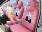 1 Sets Cartoon Hello Kitty Universal Car Seat Cover Cushion Accessory Plush Tla2