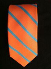Tommy Hilfiger Hommes Neuve D'Orange 100% de Soie Classique Cravate Largeur: