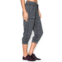 Under Armour UA HeatGear Ladies Tech Twist Loose Grey Gym Sports 3/4 Pants