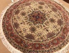 A BEAUTIFUL PERSIAN DESIGN TABRIZ ROUND RUG