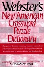 Webster's New American Crossword Puzzle Dictionary, , Good Condition, Book