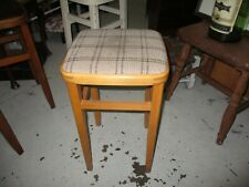 Vintage Kitchen Stool with Checked Top
