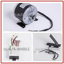 350 W 24 V goKart electric motor 1016 kit speed controller & Foot Pedal Throttle