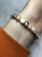 Natural Pearl Stretch Bracelet Jewellery Jewelry Beaded Beads Elasticated
