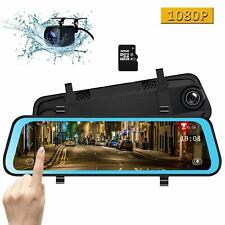 New listing Camons 10 Inch Mirror Dash Cam, Dual Lens Ips Touch Screen Rear View Mirror