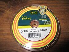 300yds Rio 50 LB (environ 22.68 kg) Gel filé deux tons d'eau salée & saumon Support