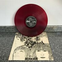 RARE LP RED VINYL ALBUM REVOLVER 1ST JAPANESE PRESS ODEON EASY CLEAN SUPER COPY